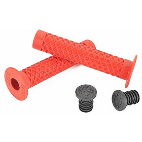 CULT Vans Waffle BMX Grips with Flange by ODI, red
